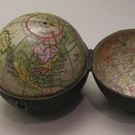 Pocket globe by Charles Price, 1716, Science Museum, London
