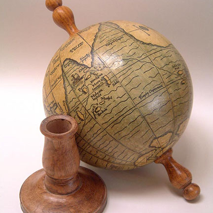 Facsimile of Magellan's small 1522 globe from Greaves and Thomas globemakers